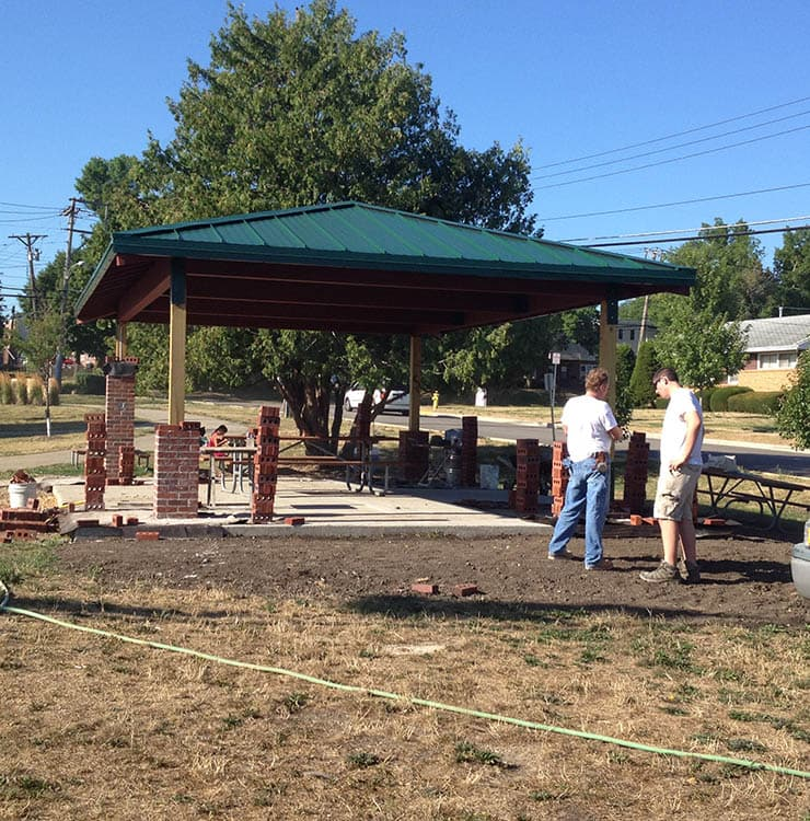 Ribbon Cutting for little cubs field picnic pavillion