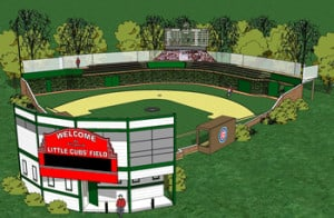 CAD drawing of Little Cubs Field